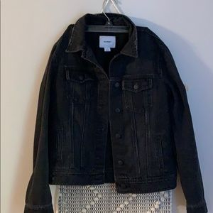 Black denim jean jacket